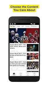 screenshot of TopBuzz:Top Video.GIFs.TV.News version 3.0.5
