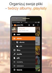 screenshot of Orange Cloud version 1.7.1