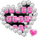 Love Pink Hearts Diamonds Keyboard