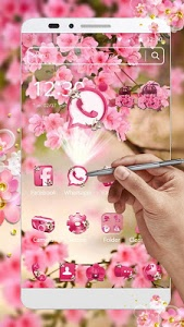 Download Pink Summer Flower Theme 1.1.5 APK
