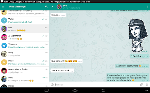 screenshot of Plus Messenger version Varies with device