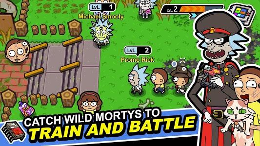 screenshot of Pocket Mortys version 2.2.5