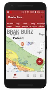 screenshot of Poland Storms Monitor version burza6