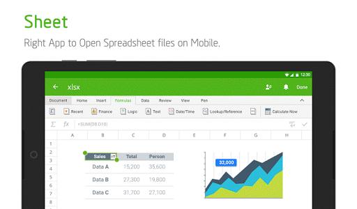 screenshot of Polaris Office for LG version 7.3.42
