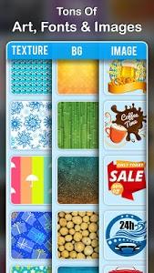 screenshot of Poster Maker: Creative Arts, Flyer, Ads Page Maker version 1.1