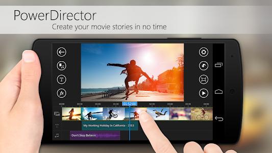 screenshot of PowerDirector – Video Editor version 3.1.1