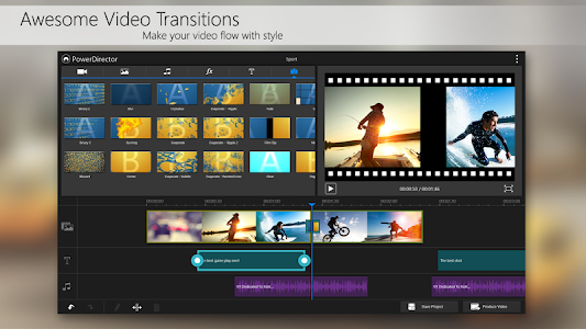 screenshot of PowerDirector Video Editor App version 3.13.1