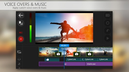 screenshot of PowerDirector Video Editor App: 4K, Slow Mo & More version 4.13.3
