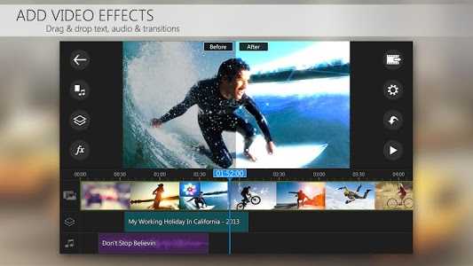 screenshot of PowerDirector Video Editor App version 4.1.1
