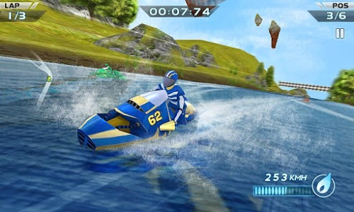screenshot of Powerboat Racing 3D version 1.6