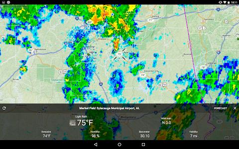 screenshot of RadarNow! version 6.7
