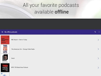 screenshot of Radioline: live radio and podcast (fm-web-replay) version 2.11.14