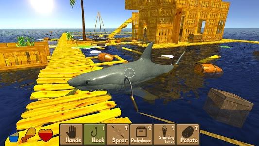 screenshot of Raft Survival Simulator version 1.1.1