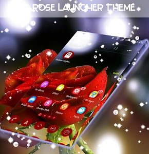 screenshot of Red Rose Launcher Theme version 1.264.1.30