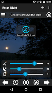 screenshot of Relax Night ~ Nature Sounds version Varies with device