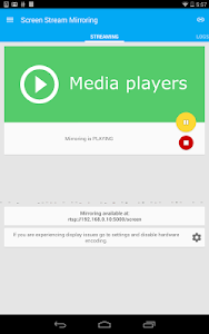 screenshot of Screen Stream Mirroring Free version 2.1.3d