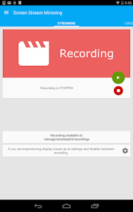 screenshot of Screen Stream Mirroring Free version