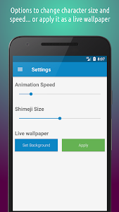 screenshot of Shimeji version 3.8