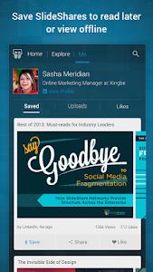 screenshot of SlideShare Presentations version 1.1.2