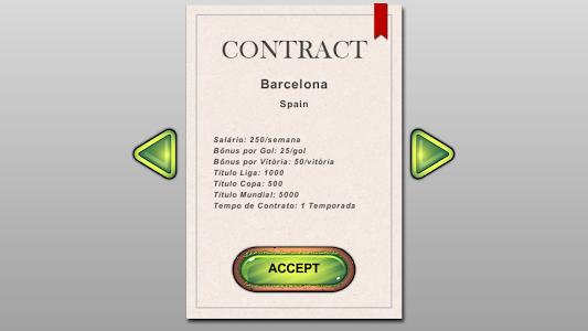 screenshot of Soccer Career version 1.1