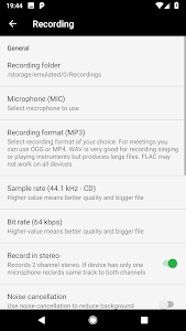screenshot of MP3 Voice and Audio Recorder - ASR (Ad free) version 213