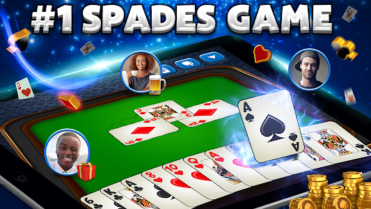 screenshot of Spades Plus version 3.40.2