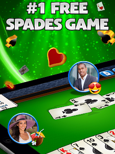 screenshot of Spades Plus version 2.21.1