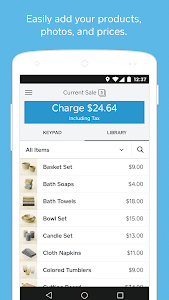 screenshot of Square Point of Sale - POS version 4.70