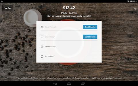 screenshot of Square Register version 4.22.2