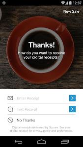 screenshot of Square Register version 4.23.1