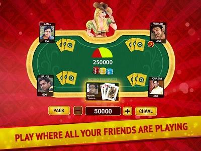 screenshot of Teen Patti - Indian Poker version 4.49