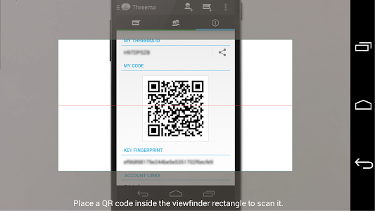 screenshot of Threema QR Scanner Plugin version 2.1