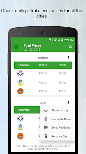 screenshot of Daily Petrol Diesel Price in India GST Rate Finder version 1.17