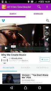 screenshot of Tube video downloader 2017 version 3.0