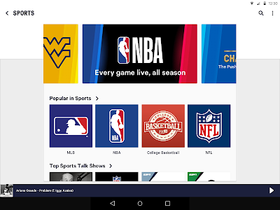 screenshot of TuneIn: NFL Radio, Music, Sports & Podcasts version 21.3.1