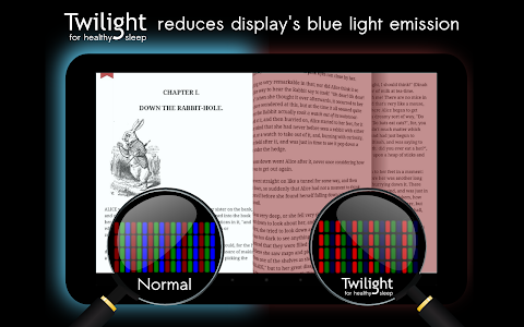 screenshot of Twilight: Blue light filter version Varies with device