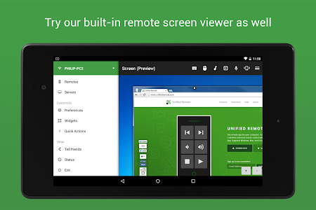 screenshot of Unified Remote version Varies with device