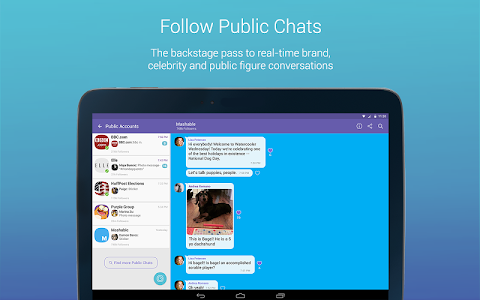 screenshot of Viber version Varies with device