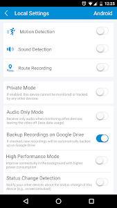 screenshot of Surveillance & Security - TrackView version 3.2.12