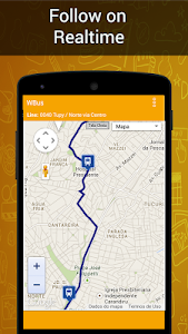 screenshot of WBus - Tempo Real Horario de onibus e itinerarios version 0x7f070041