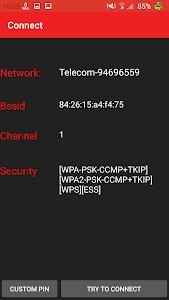 screenshot of WIFI WPS WPA TESTER version 3.2.5.1