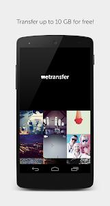 screenshot of WeTransfer version 1.0.5.2