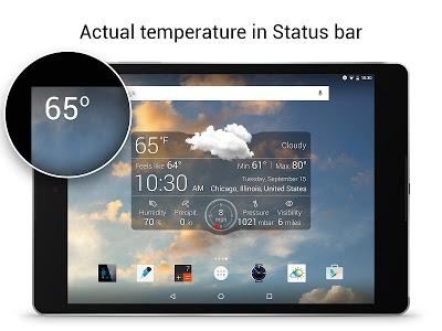 screenshot of Weather Live Free version 4.5
