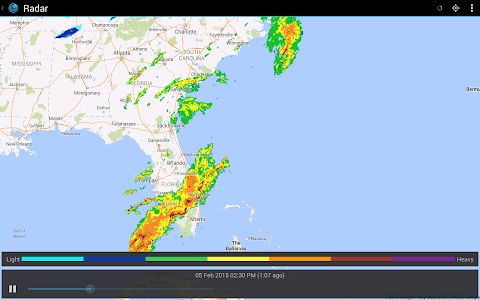 screenshot of Weather Live with Widgets Free version 4.1