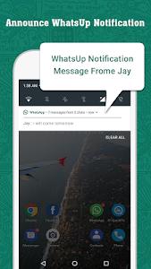 screenshot of WhatsUp Messenger Announcer version 1.3