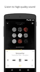 screenshot of Yandex.Music version 2.885