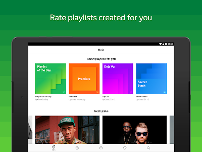 screenshot of Yandex Music — listen and download version Varies with device