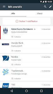 screenshot of e-Boks.dk version 3.6.1-MOBILEACCESS2