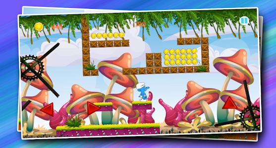 screenshot of super Smurf adventure run 2017 version 1.0