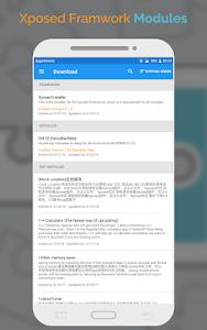 screenshot of xposed framework version 500,000+